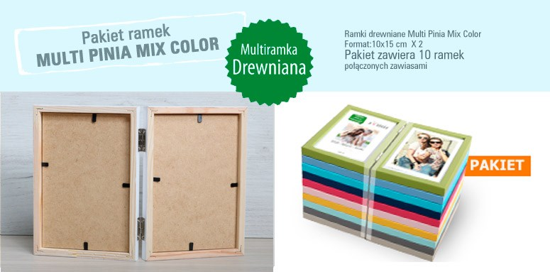 Pakiet multiramek Multi Pinia Mix Color